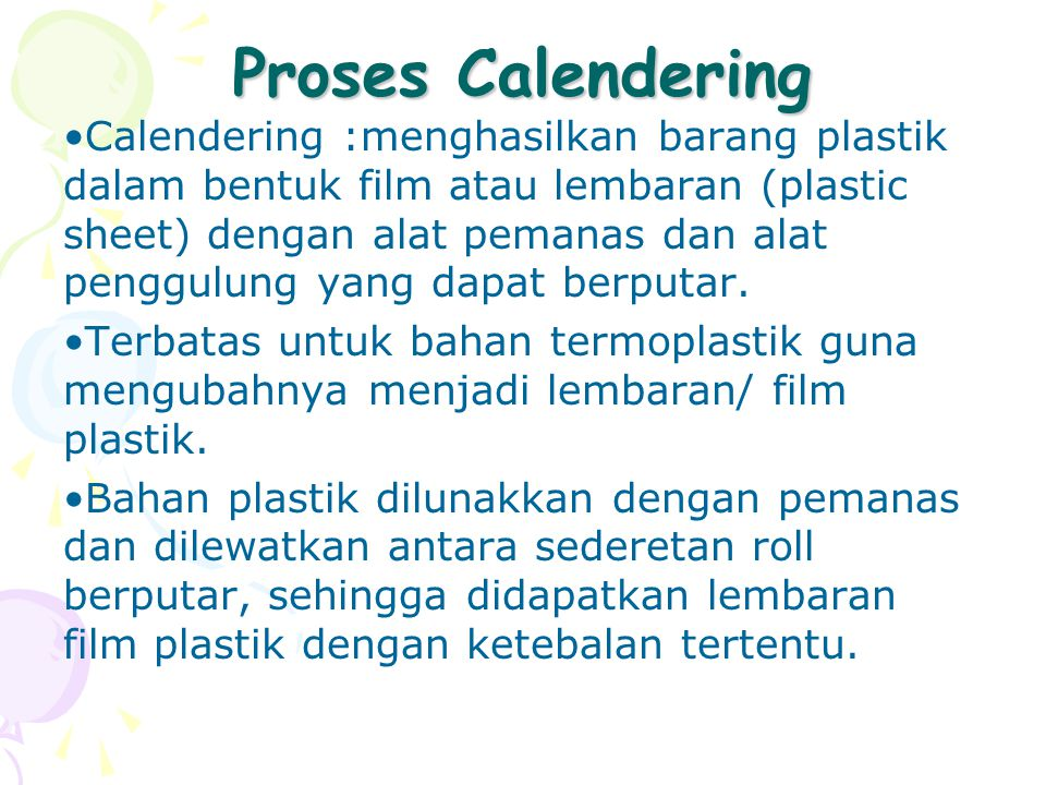 Proses Calendering