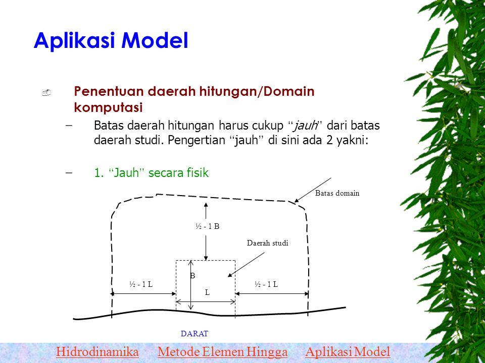Aplikasi Model Penentuan daerah hitungan/Domain komputasi