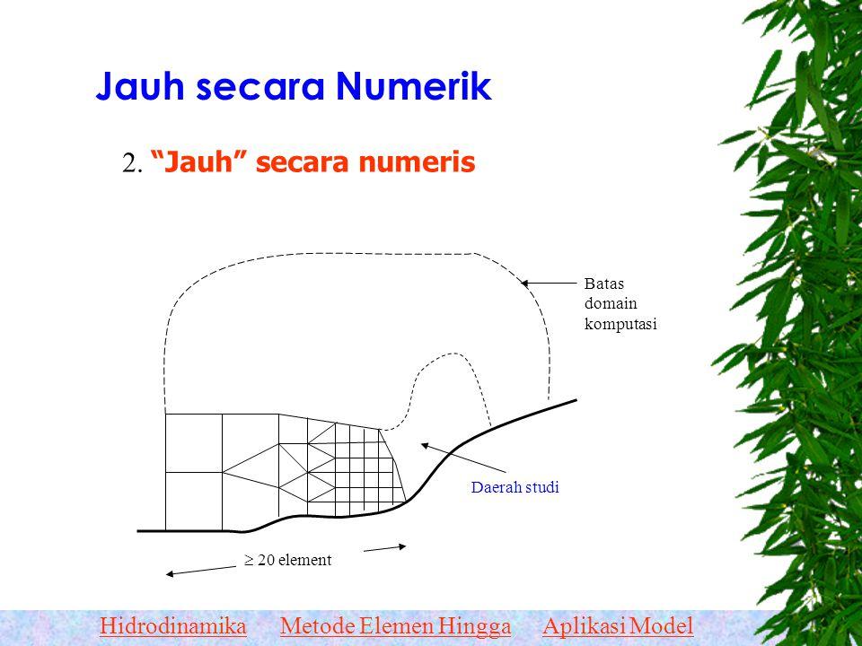 Jauh secara Numerik 2. Jauh secara numeris Batas domain komputasi