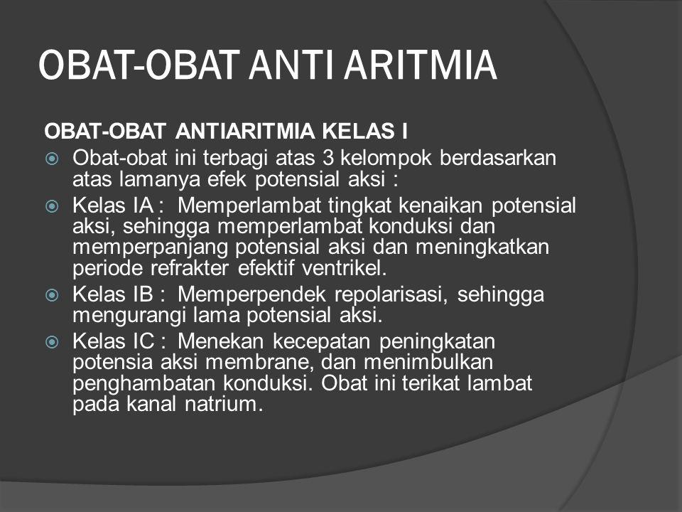 OBAT-OBAT ANTI ARITMIA