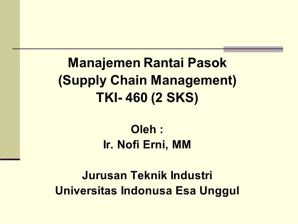 Manajemen Rantai Pasok (Supply Chain Management) TKI- 460 (2 SKS)