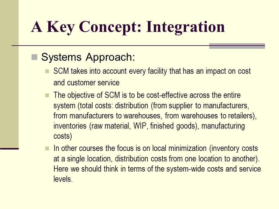 A Key Concept: Integration