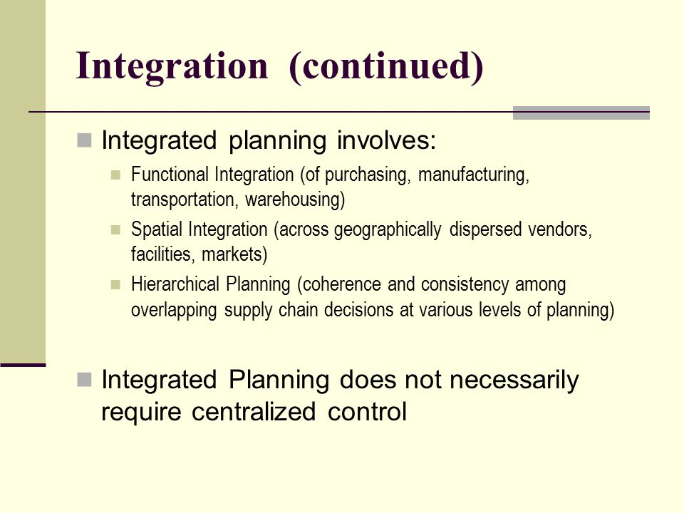Integration (continued)