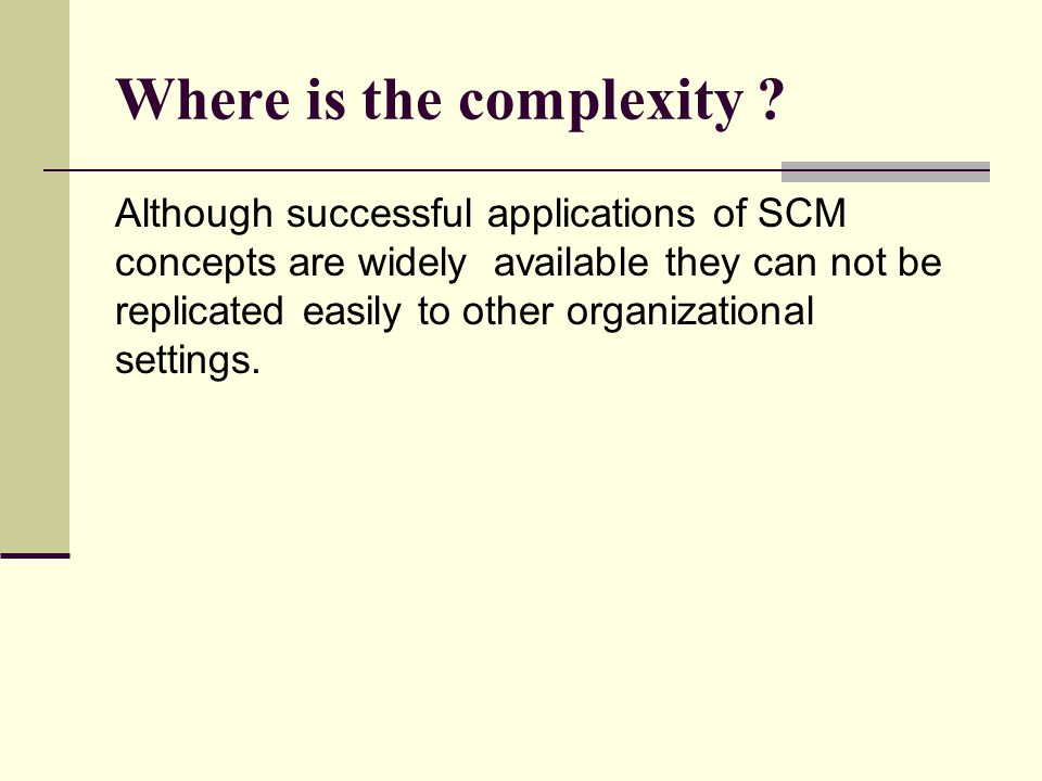 Where is the complexity