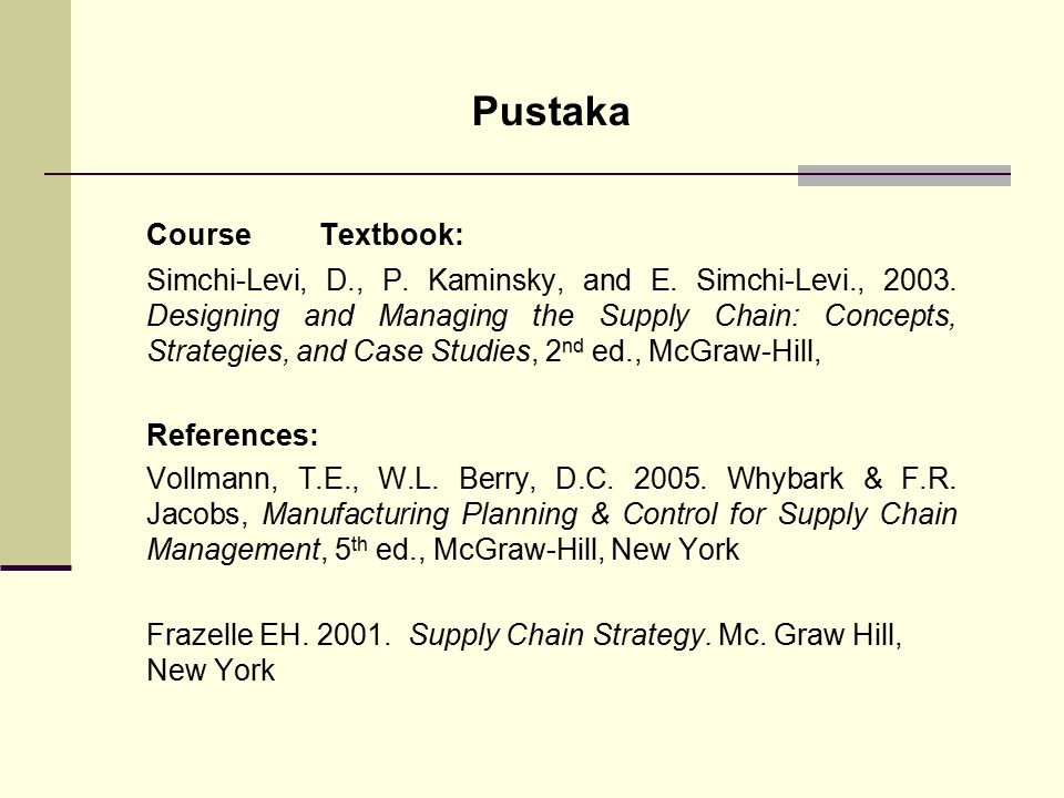 Pustaka Course Textbook: