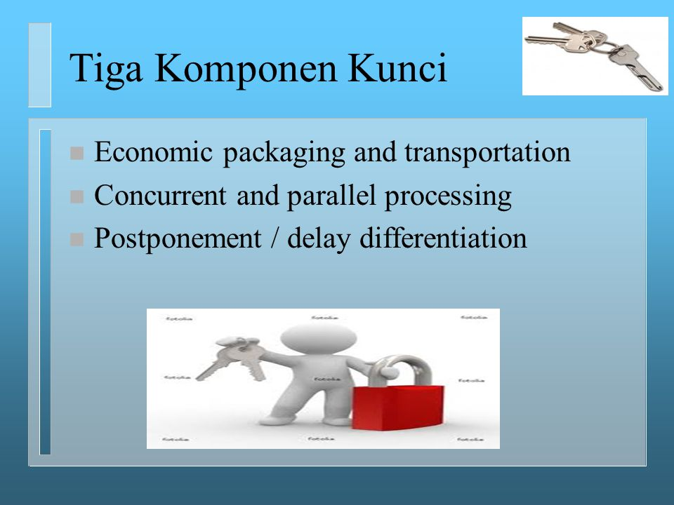 Tiga Komponen Kunci Economic packaging and transportation
