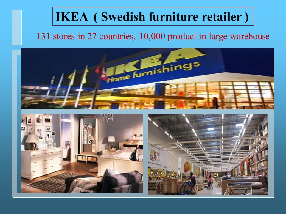 IKEA ( Swedish furniture retailer )