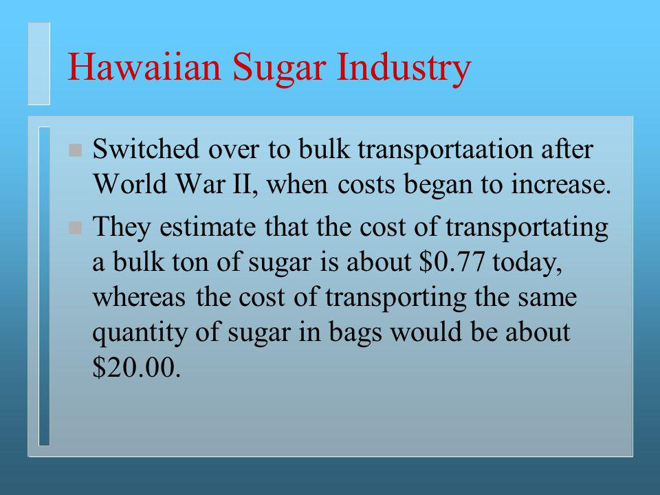 Hawaiian Sugar Industry