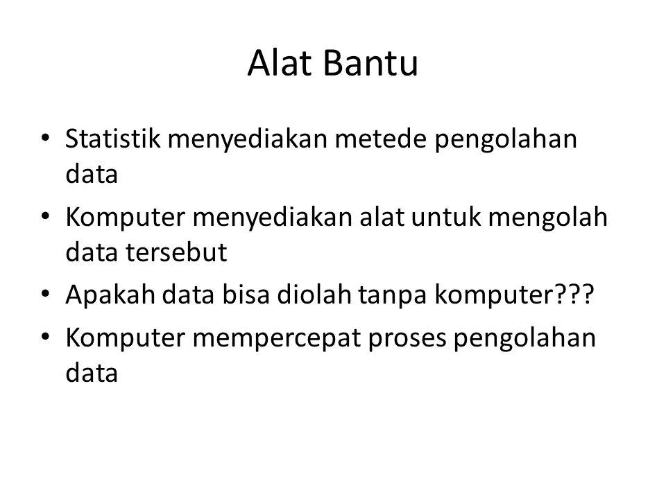 Alat Bantu Statistik menyediakan metede pengolahan data