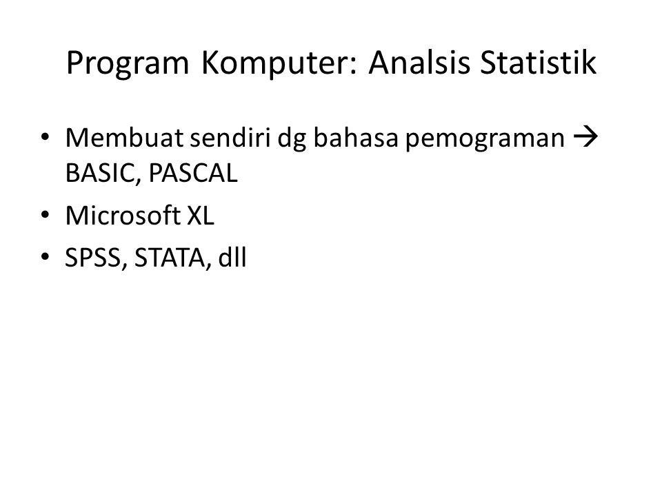 Program Komputer: Analsis Statistik