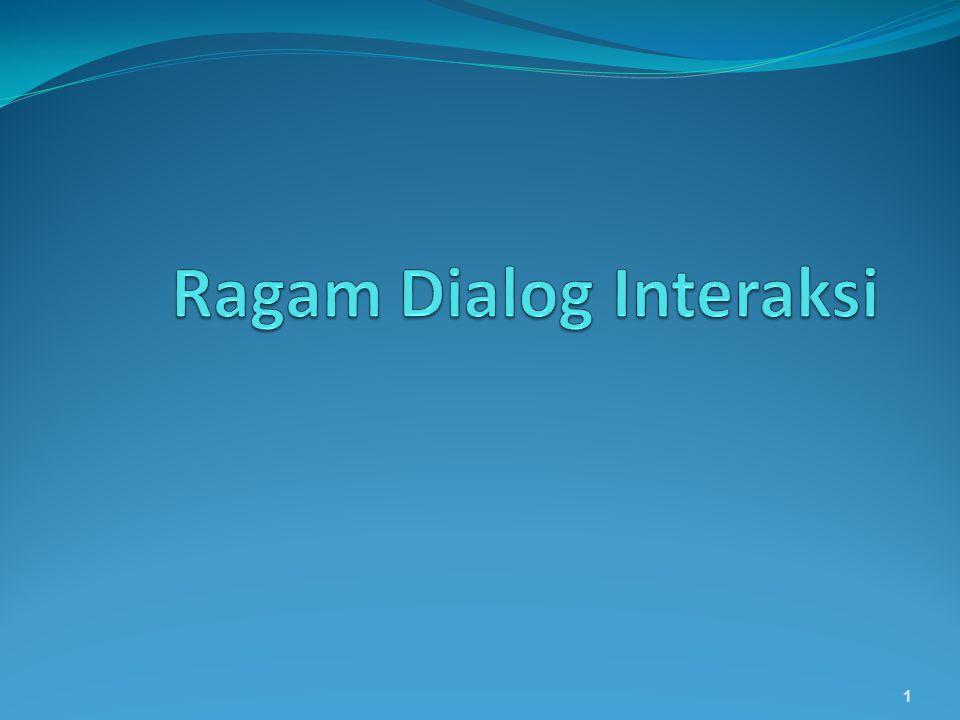 Ragam Dialog Interaksi