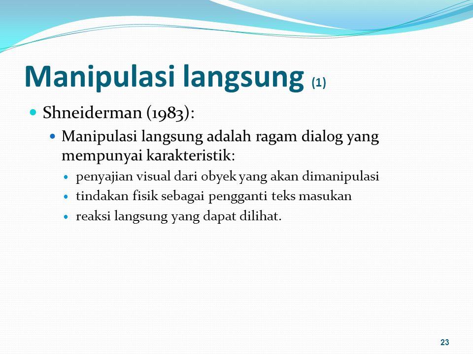 Manipulasi langsung (1)