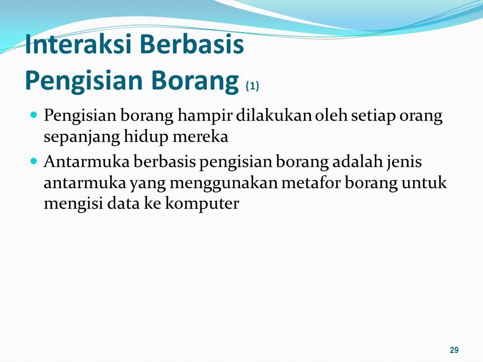 Interaksi Berbasis Pengisian Borang (1)