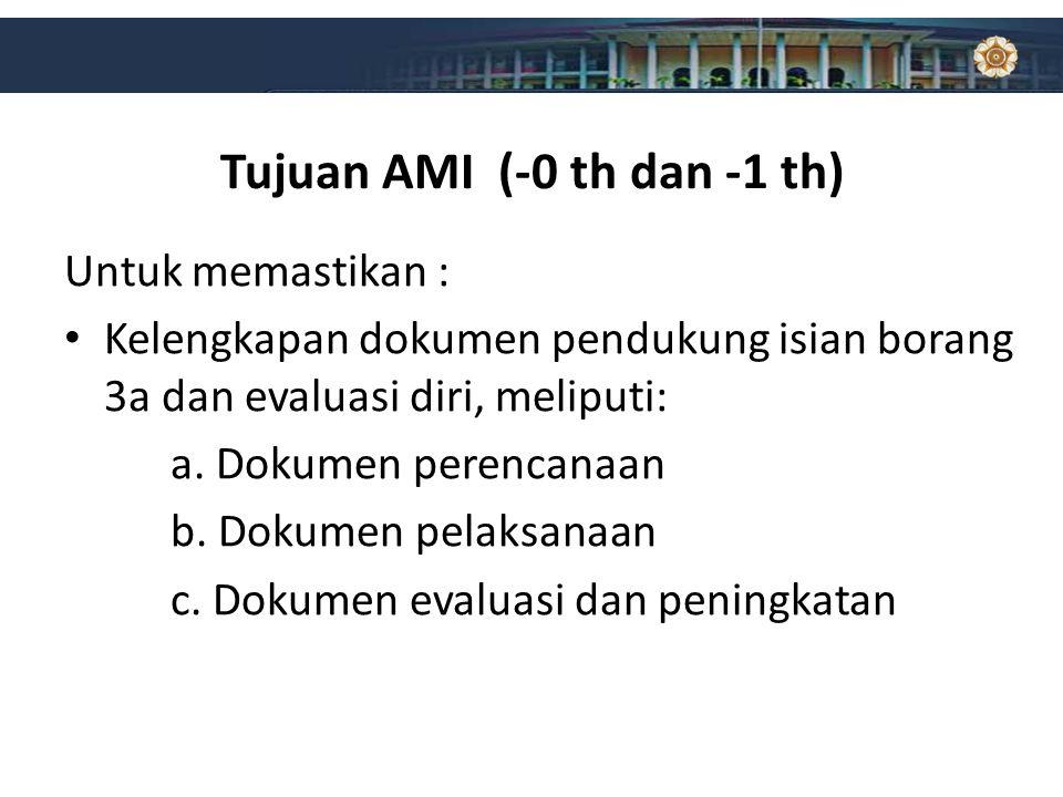 Tujuan AMI (-0 th dan -1 th)