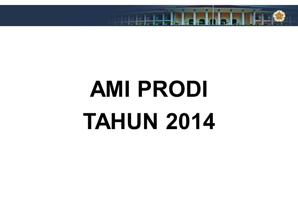AMI PRODI TAHUN 2014