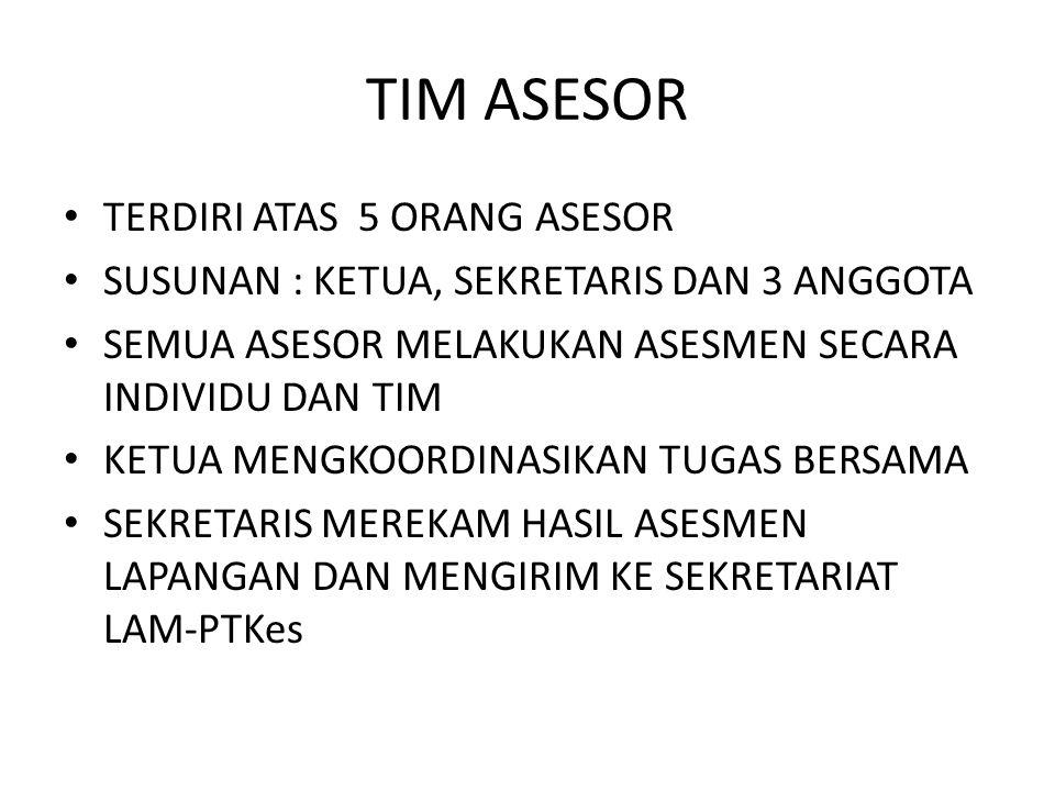 TIM ASESOR TERDIRI ATAS 5 ORANG ASESOR