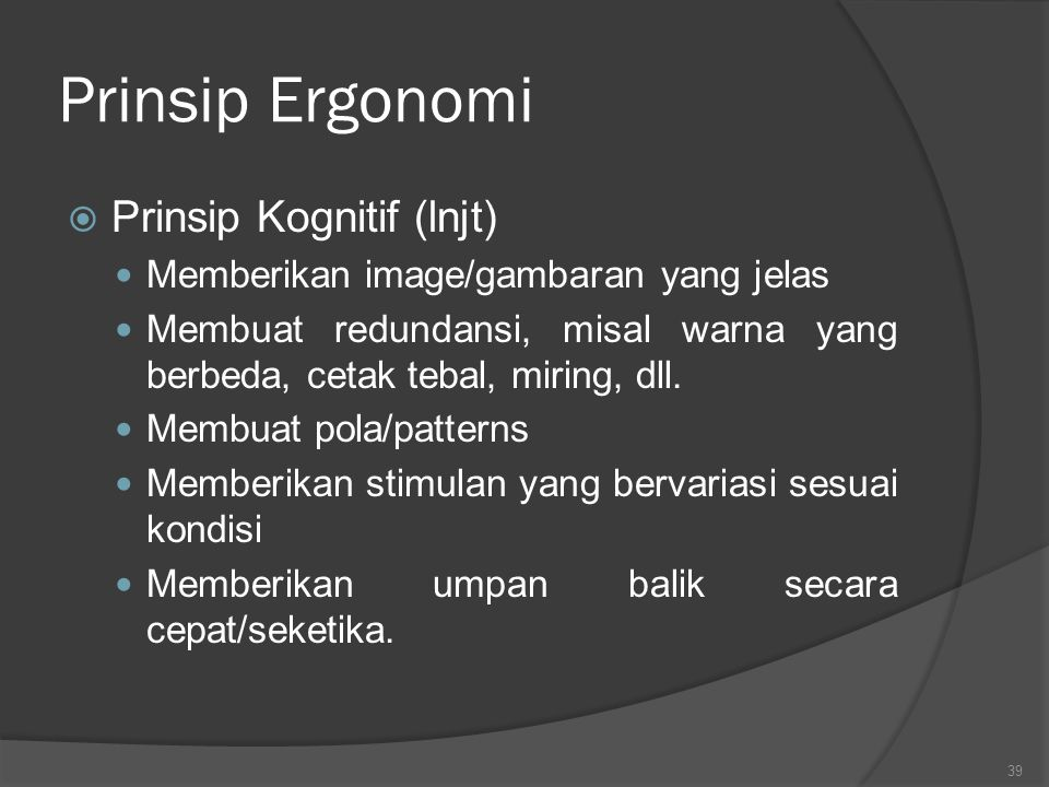 Prinsip Ergonomi Prinsip Kognitif (lnjt)
