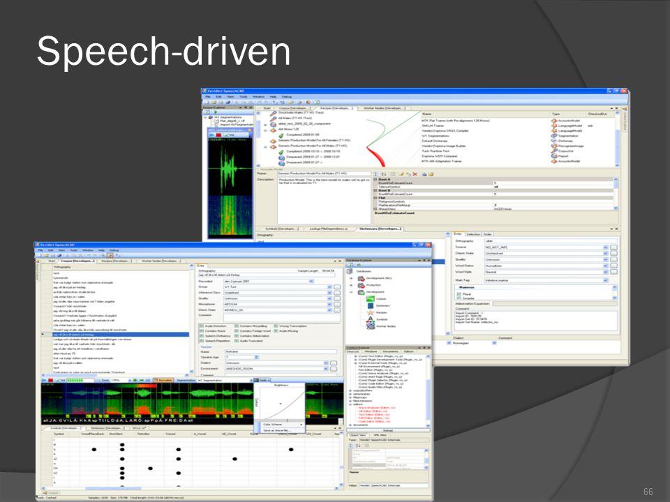 Speech-driven