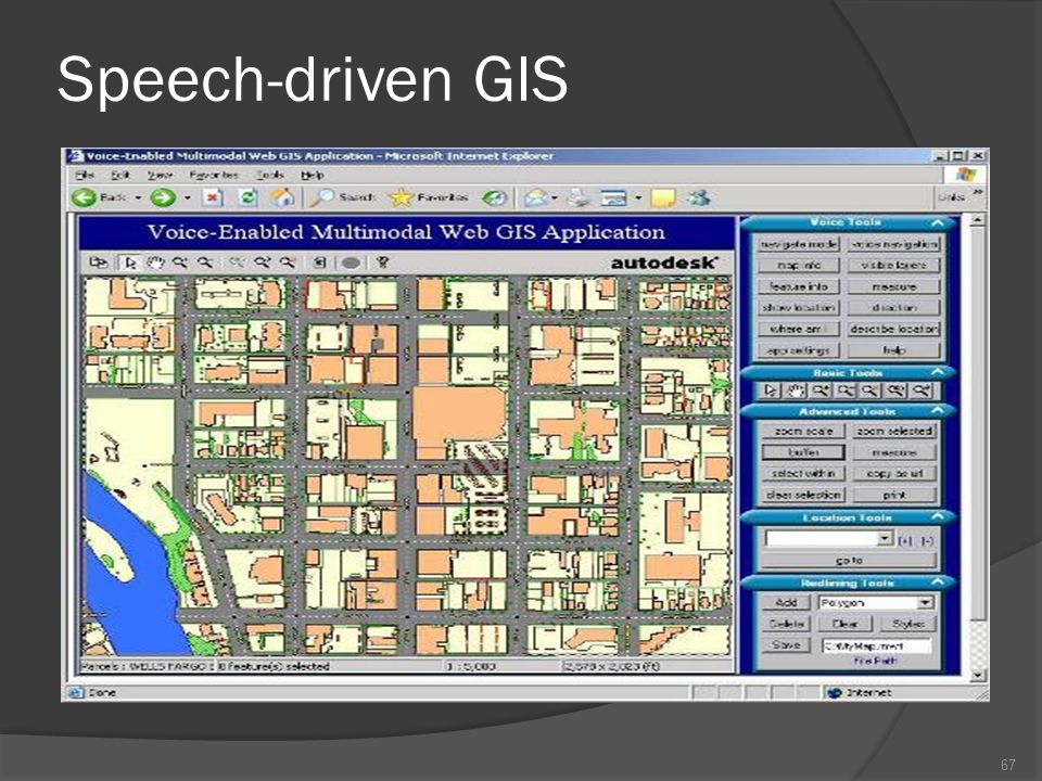 Speech-driven GIS