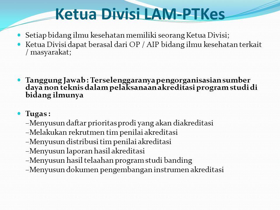 Ketua Divisi LAM-PTKes
