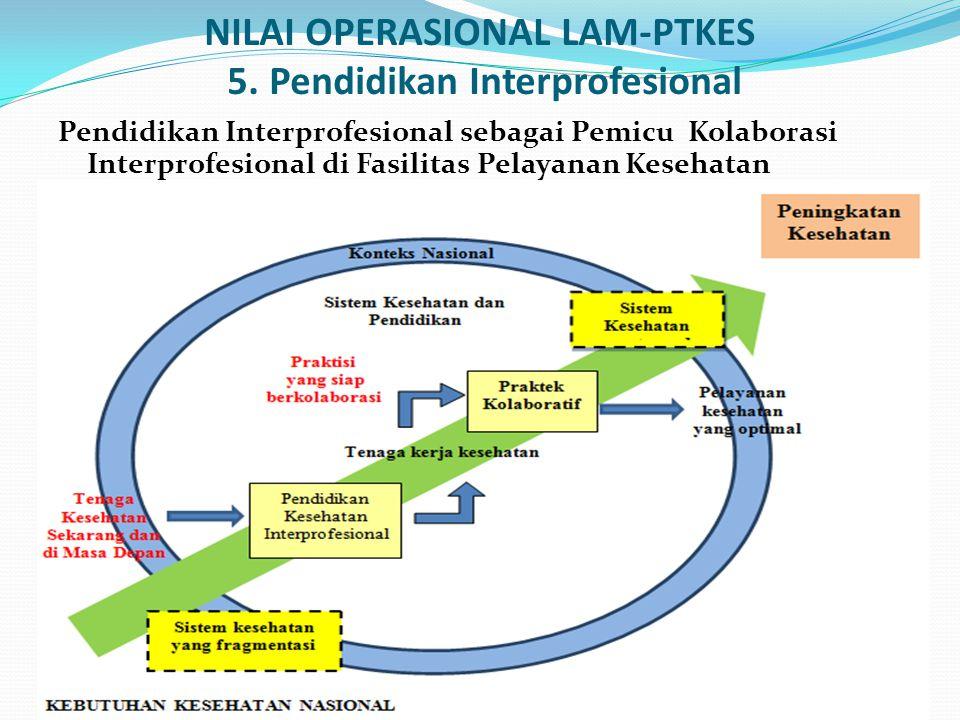 NILAI OPERASIONAL LAM-PTKES 5. Pendidikan Interprofesional