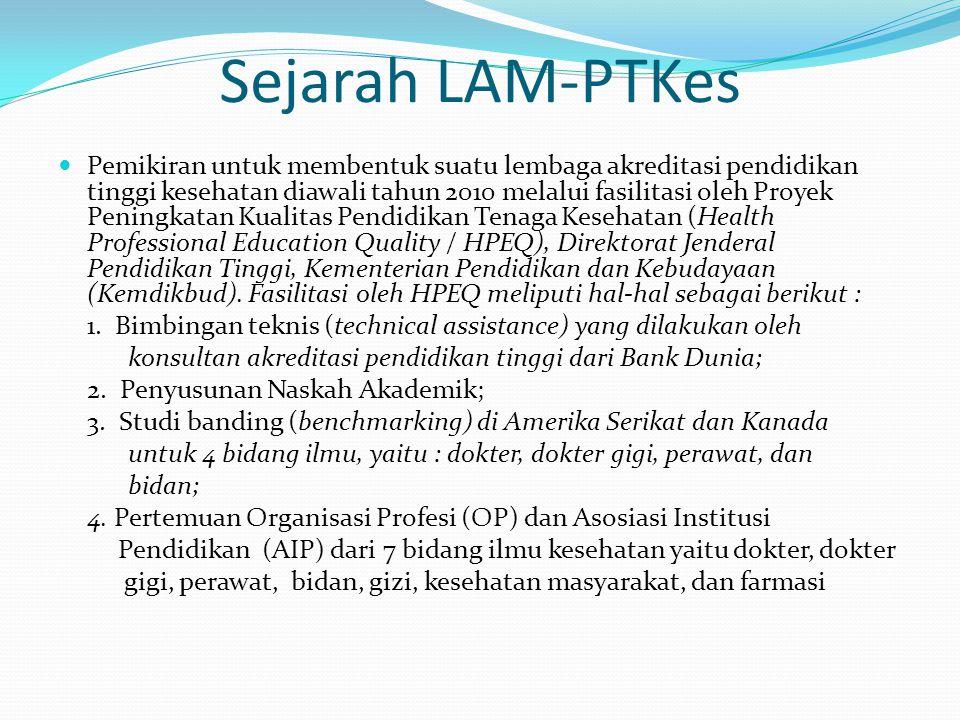 Sejarah LAM-PTKes