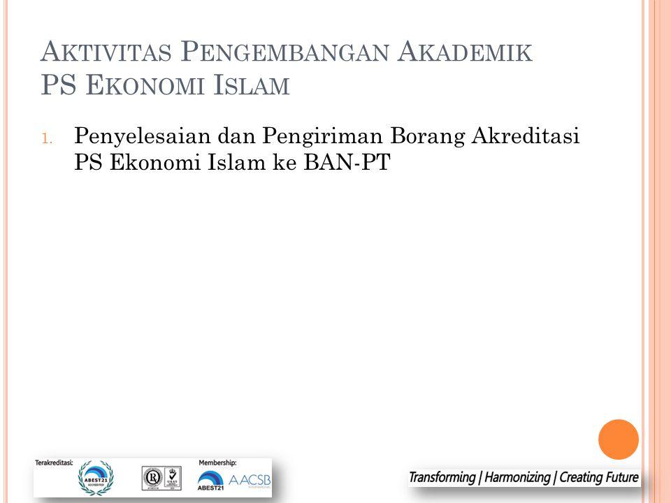 Aktivitas Pengembangan Akademik PS Ekonomi Islam