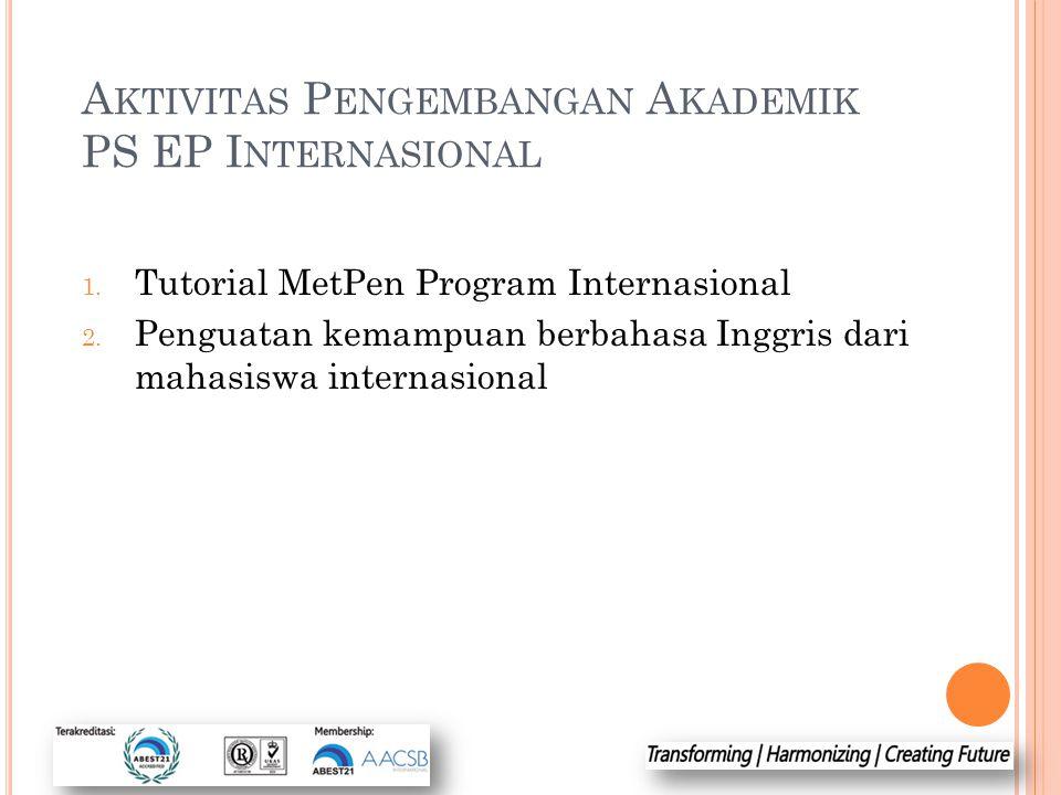 Aktivitas Pengembangan Akademik PS EP Internasional