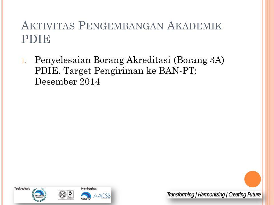 Aktivitas Pengembangan Akademik PDIE
