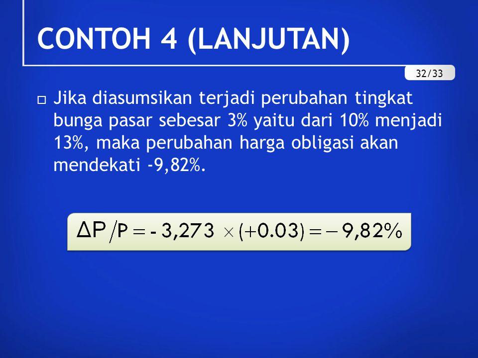 CONTOH 4 (LANJUTAN) 32/33.