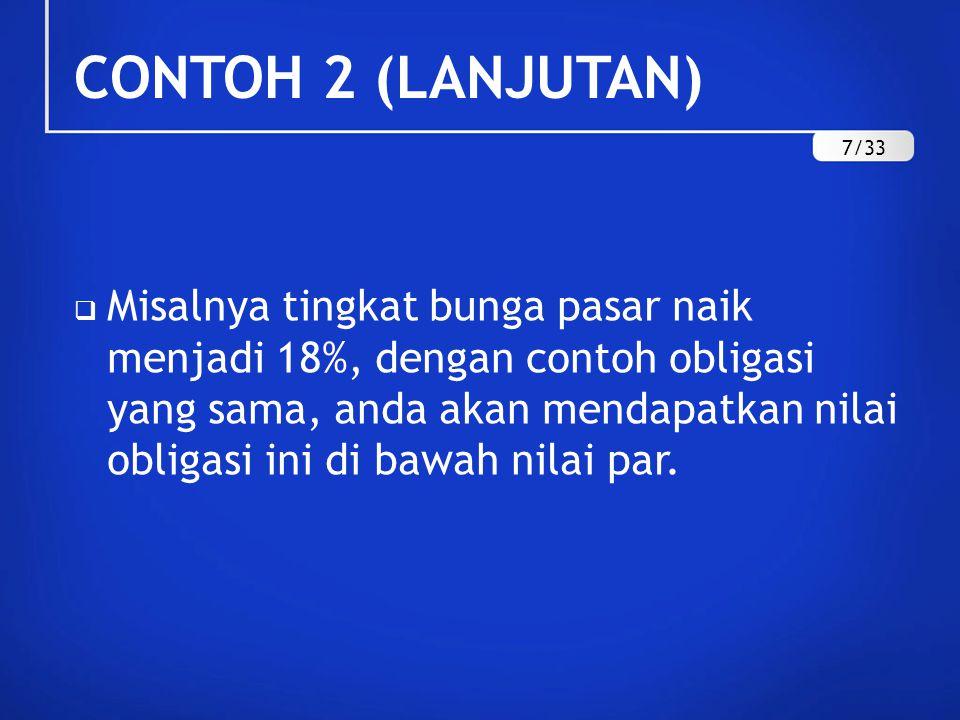 CONTOH 2 (LANJUTAN) 7/33.