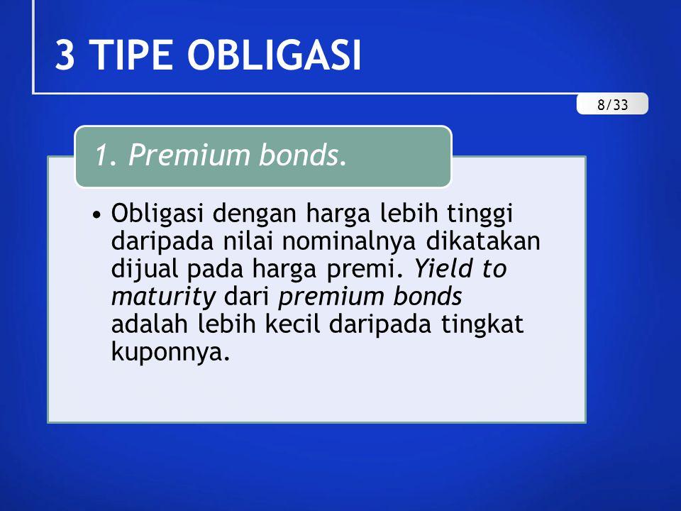 3 TIPE OBLIGASI 1. Premium bonds. 8/33