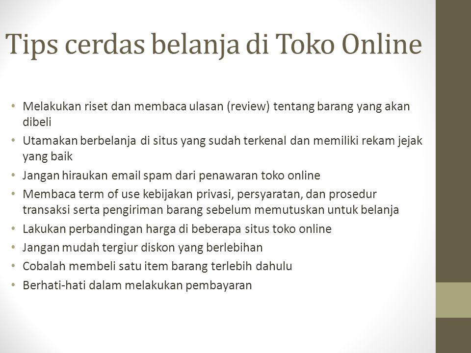 Tips cerdas belanja di Toko Online