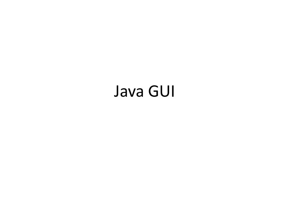Java GUI