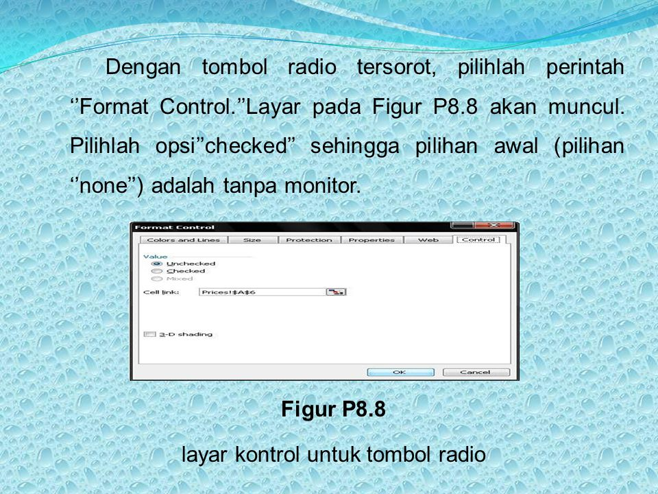 layar kontrol untuk tombol radio