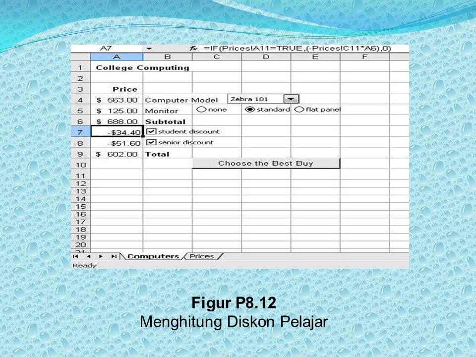 Figur P8.12 Menghitung Diskon Pelajar