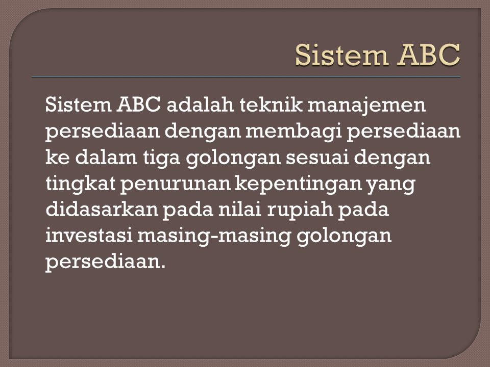 Sistem ABC