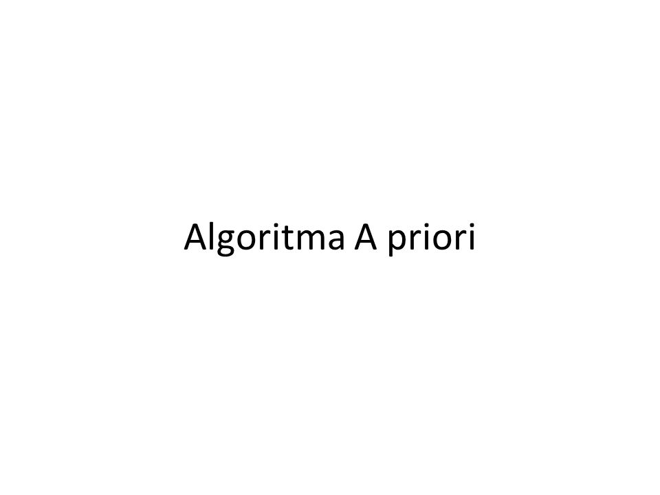 Algoritma A priori