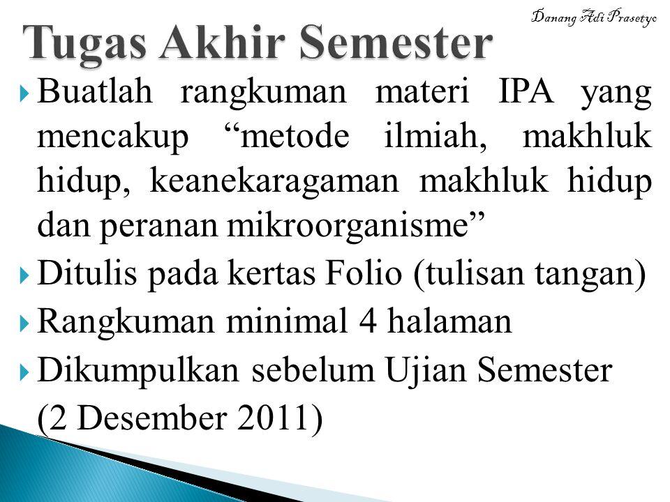 Tugas Akhir Semester Danang Adi Prasetyo.