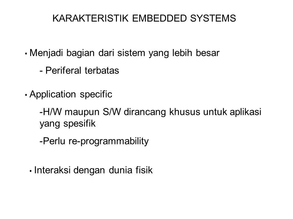 KARAKTERISTIK EMBEDDED SYSTEMS