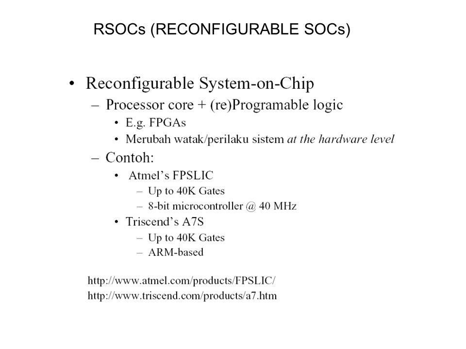 RSOCs (RECONFIGURABLE SOCs)