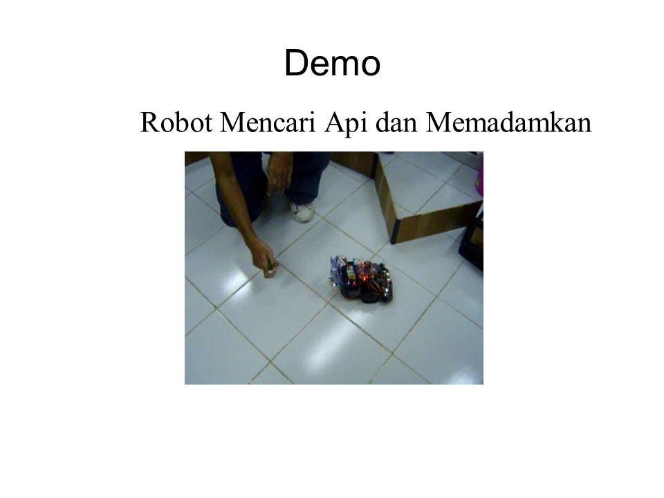 Demo Robot Mencari Api dan Memadamkan