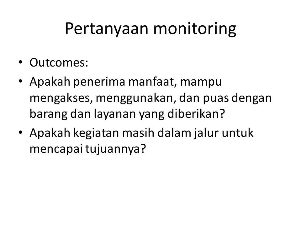 Pertanyaan monitoring