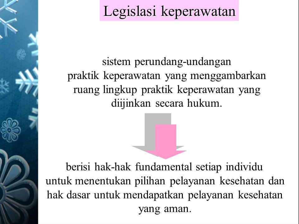 Legislasi keperawatan