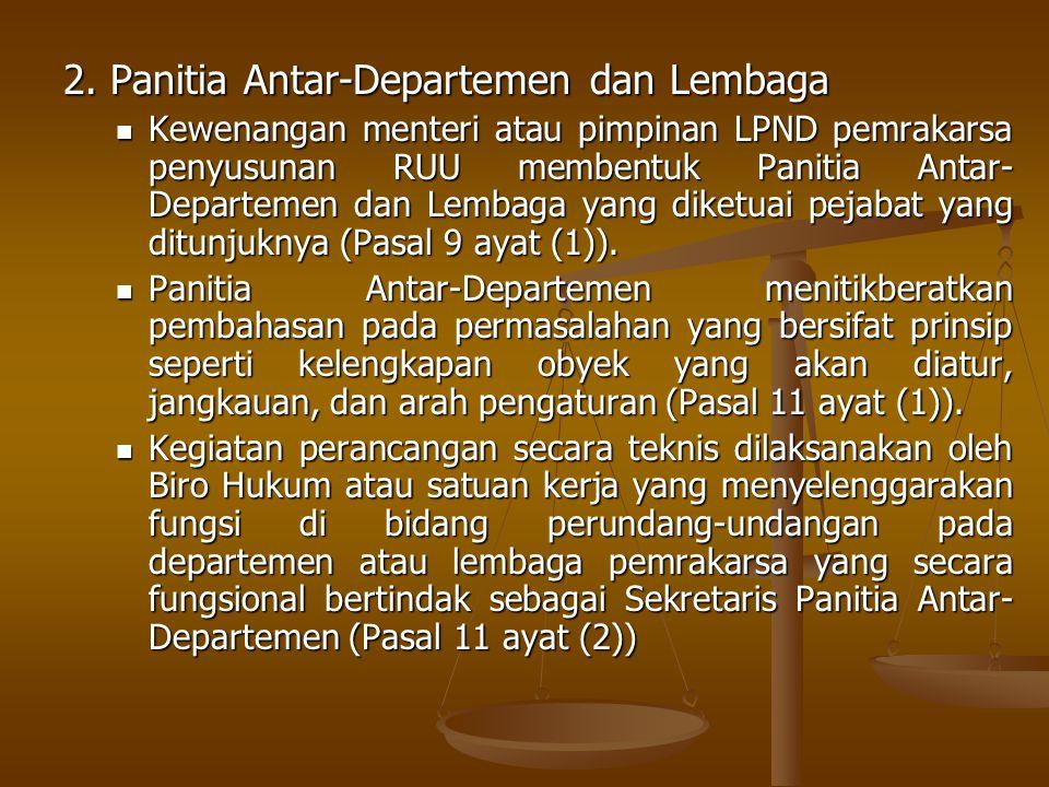 2. Panitia Antar-Departemen dan Lembaga