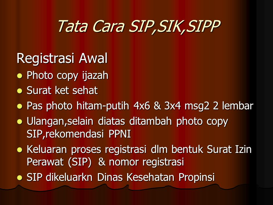 Tata Cara SIP,SIK,SIPP Registrasi Awal Photo copy ijazah