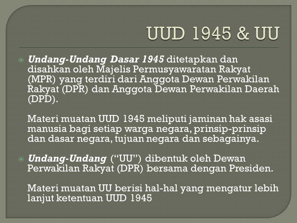 UUD 1945 & UU
