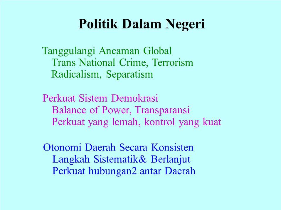 Politik Dalam Negeri Tanggulangi Ancaman Global
