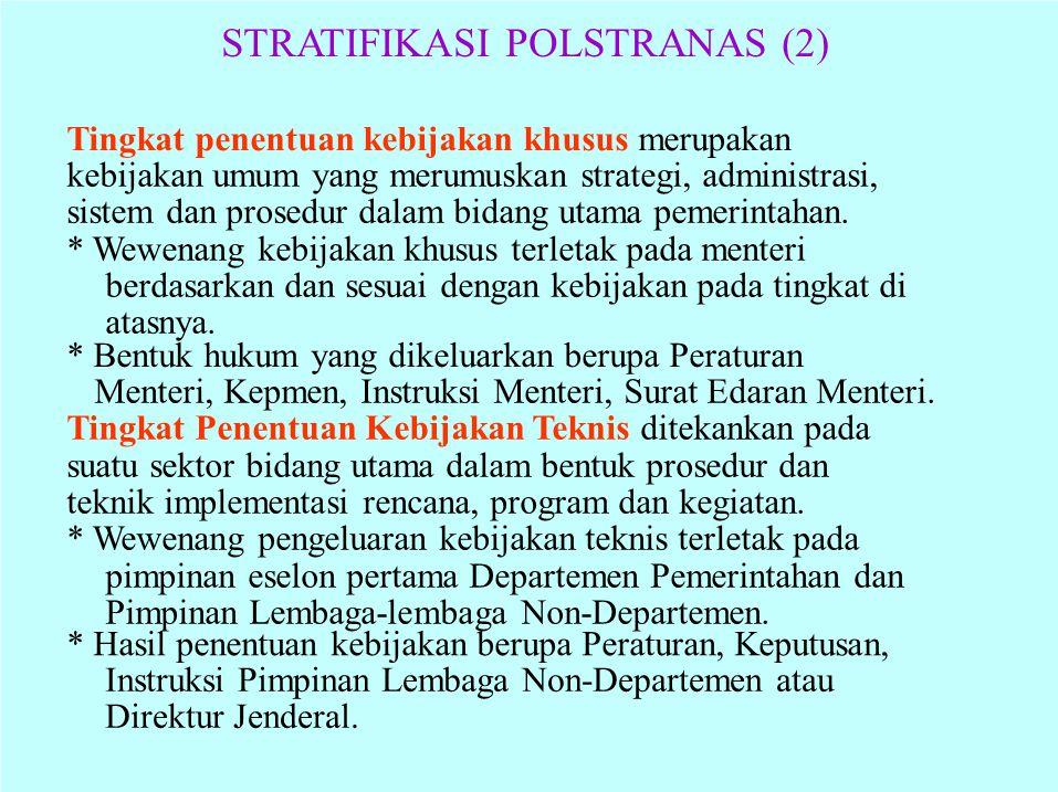 STRATIFIKASI POLSTRANAS (2)
