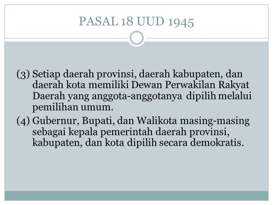 PASAL 18 UUD 1945